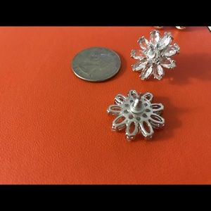 Kate spade earrings crystal flowers stud